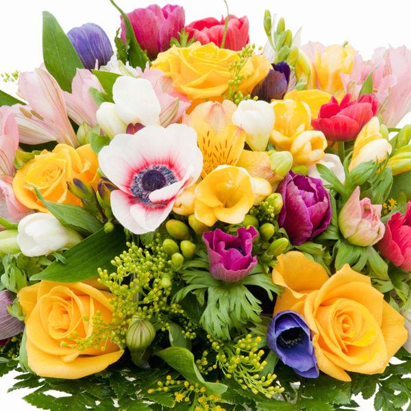 Поздравления с букетами цветов 225