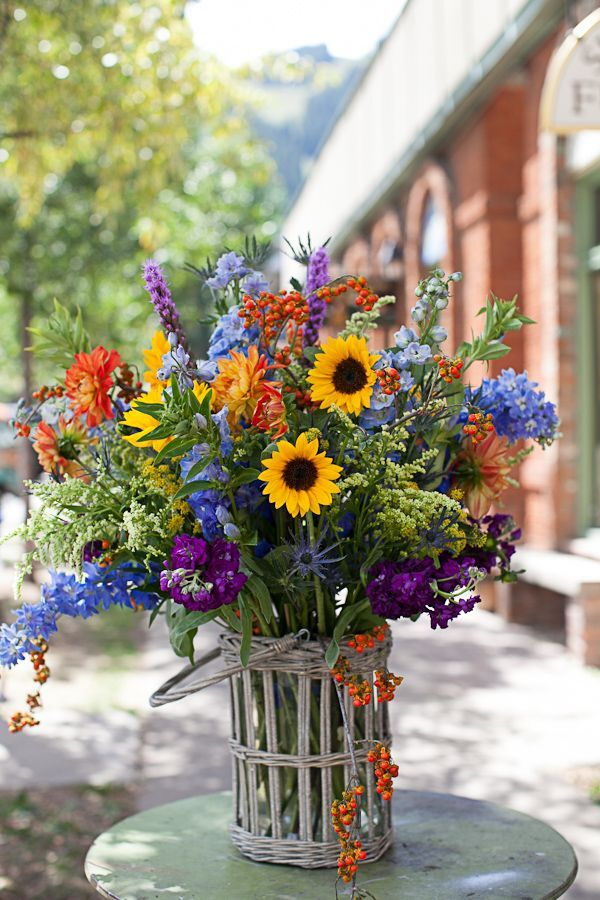 Amazing bouquet of wild flowers