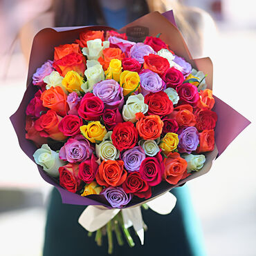 Colorful rose bouquet